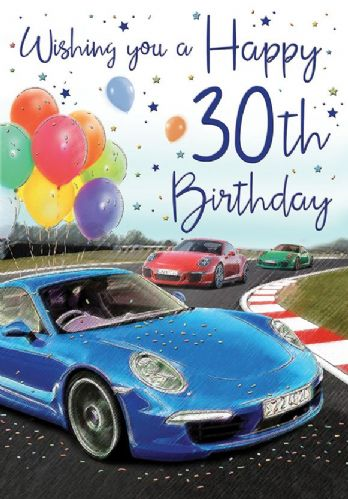 Wishing You A Happy 30th Birthday Cars  C75
